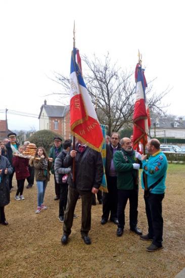 accueil des drapeaux